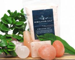 Pack Himalayan Salt 5 Massage Bars + 1kg Himalayan Bath Salt