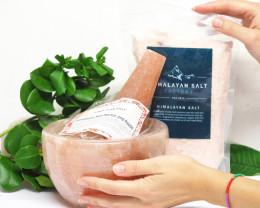 Special Pack Himalayan Salt Mortar and Pestle + 1kg Himalayan Salt