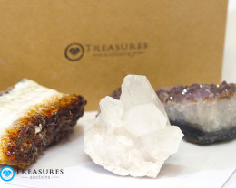 1.5 kilo Amethyst & Citrine & Crystal Specimen Collection Box CF 222