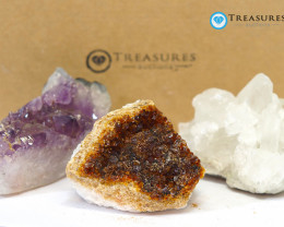 1.20 kilo Amethyst & Citrine & Crystal Specimen Collection Box CF 223