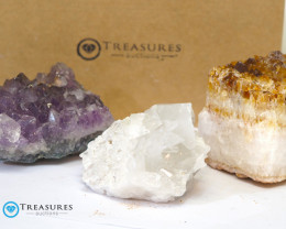 1.50 kilo Amethyst & Citrine & Crystal Specimen Collection Box CF 224