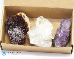 1.15 kilo Amethyst Cluster Druze Collection Box CF 226