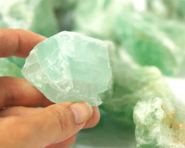2 kilo Green Fluorite Rough CF 262 B