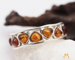 Baltic Amber Sale,Lovers Heart Ring size R  direct from Poland AM 1300