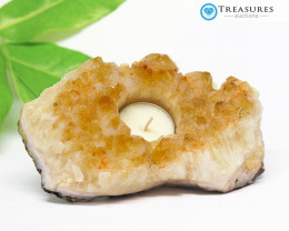 1.10 Kilo Natural  Beautiful Citrine Tea Light  CF 296