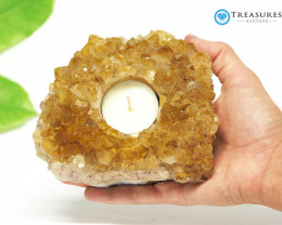 0.60 Kilo Natural  Beautiful Citrine Tea Light  CF 297
