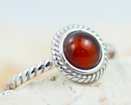 Baltic Amber Ring Red amber   size L,direct from Poland AM1369
