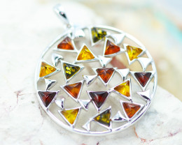 Baltic Amber Large Multi Pendant ,direct from Poland AM1477