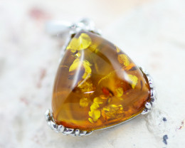 Baltic Amber Tri Pendant ,direct from Poland AM 1507