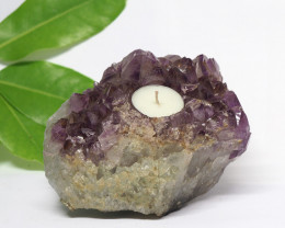 1.80 Kilo Natural Beautiful Amethyst  Tea Light  CF 352
