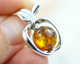 Baltic Amber Apple  Pendant ,direct from Poland AM1537