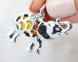 Baltic Amber Elephant  Pendant ,direct from Poland AM1554
