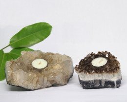2.10 Kilo x2 Natural Amethyst Tea light CF 354