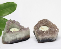 1.25 Kilo x2 Natural Amethyst Tea light CF 357