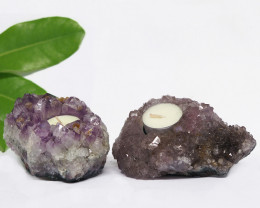 1.35 Kilo x2 Natural Amethyst Tea light CF 359