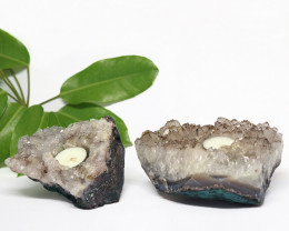 2.25 Kilo x2 Natural Amethyst Tea light CF 361
