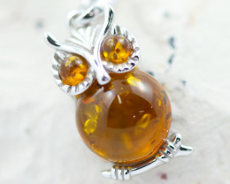Baltic Amber Owl   Pendant ,direct from Poland AM1561