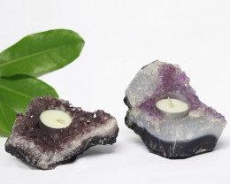 1.40 Kilo x2 Natural Amethyst Tea light CF 362