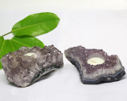 1.60 Kilo x2 Natural Amethyst Tea light CF 365
