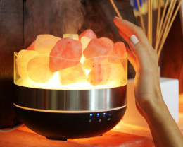 Treasures Himalayan Salt Diffuser/Humidifier - Tumbled Stones
