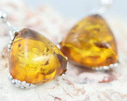Baltic Amber Earrings sheppard hooks ,direct from Poland AM 1601