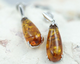 Baltic Amber Earrings ,direct from Poland AM 1605