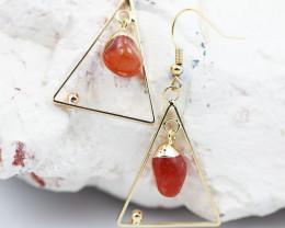 Polished Carnelian G/P earrings BR 2698