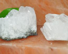 1.75 Kilo 2x Crystal Rock terminated Points Specimen  CF 506