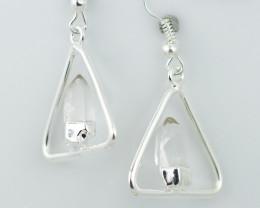 Cute crystal terminated earth Design earrings BR 2709