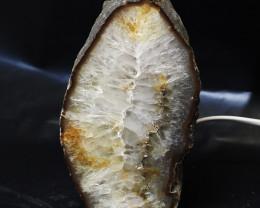 2.50 Kilo Treasures Brazilian Crystal Agate lamp.Free Shipping  CF 540