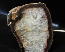2.40 Kilo Treasures Brazilian Crystal Agate lamp.Free Shipping  CF 541
