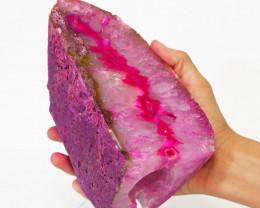 1.70 Kilo Treasures Brazilian  Pink Crystal Agate lamp.Free Shipping  CF 54