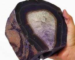 Treasures Brazilian  Purple Crystal Agate Lamp Free Shipping  CF606