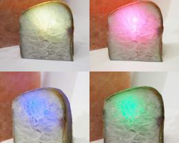 1.70 Kilo Treasures Brazilian  Crystal Agate lamp.Free Shipping  CF 701