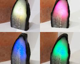 1.65 Kilo Treasures Brazilian  Crystal Agate lamp.Free Shipping  CF 702