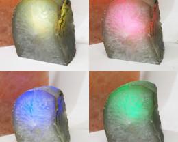 1.55 Kilo Treasures Brazilian  Crystal Agate lamp.Free Shipping  CF 704