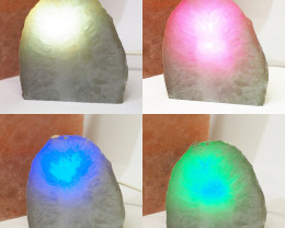 1.10 Kilo Treasures Brazilian  Crystal Agate lamp.Free Shipping  CF 705