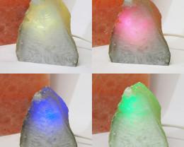 1.55 Kilo Treasures Brazilian  Crystal Agate lamp.Free Shipping  CF 708