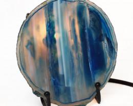 0.15 Kilo Treasures  Thick  Sliced Brazilian  Crystal Agate lamp.  CF 725