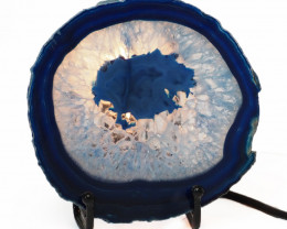 0.20 Kilo Treasures    Sliced Brazilian  Crystal Agate lamp.  CF 727