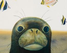 Wyland, Hawaiian Sea Life Limited  ,Edition Lithograph