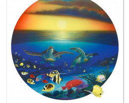 Sea Turtle Reef. Limited Edition Lithograph by Famed Artist Wyland