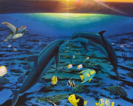 Kiss For the Sea, Limited Edition Lithograph,Wyland