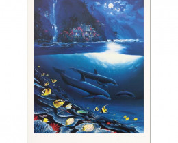 Paradise. Limited Edition Lithograph by Wyland and Jim Coleman