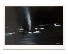 Ancient Orca Seas, Limited Edition Lithograph, Numbered ,Wyland