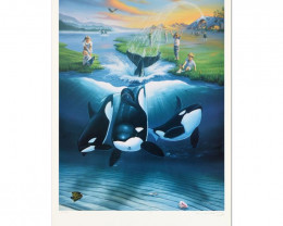 Keiko's Dream Limited Edition Lithograph ,by Wyland and Jim Warren