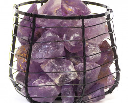 Amethyst Crystal Rock Freedom Capsule Lamp
