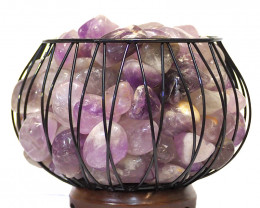 Amethyst Crystal Gemstones Freedom Amore Lamp