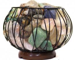 Mixed Gemstones Holistic Amore Lamp