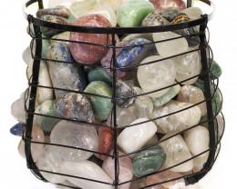 Mixed Gemstones Holistic Capsule Lamp